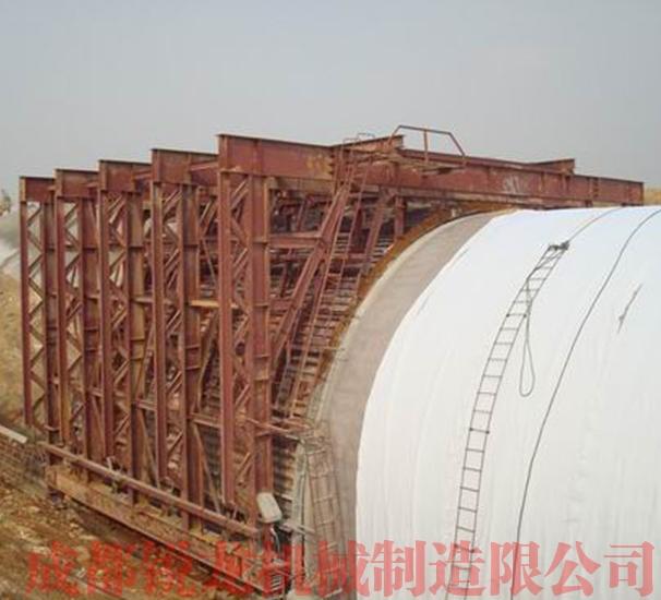 高速铁路拱形明洞内外模台车