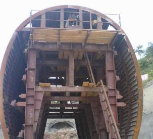 单线铁路隧道衬砌台车